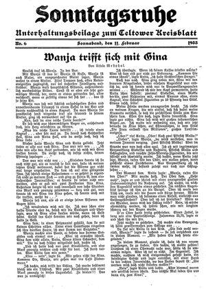Sonntagsruhe vom 11.02.1933