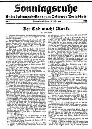 Sonntagsruhe vom 18.02.1933