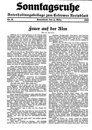 Sonntagsruhe vom 11.03.1933