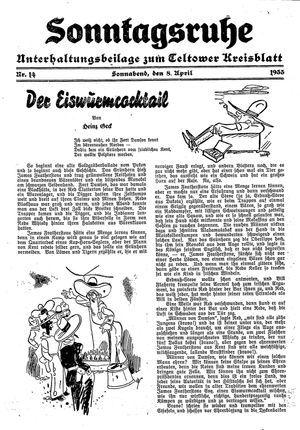 Sonntagsruhe vom 08.04.1933