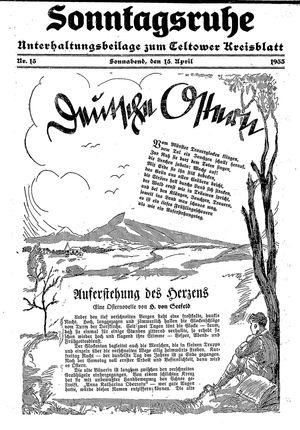 Sonntagsruhe vom 15.04.1933