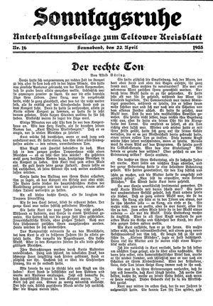 Sonntagsruhe on Apr 22, 1933