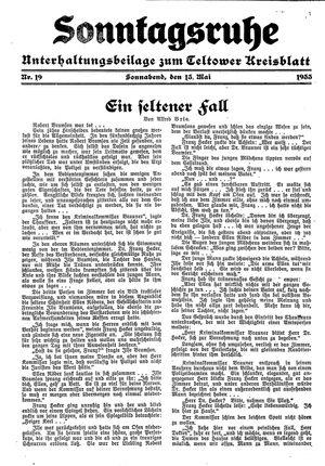 Sonntagsruhe vom 13.05.1933