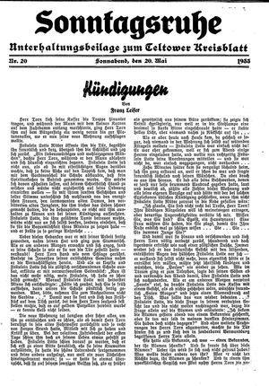 Sonntagsruhe vom 20.05.1933