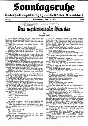 Sonntagsruhe on May 27, 1933