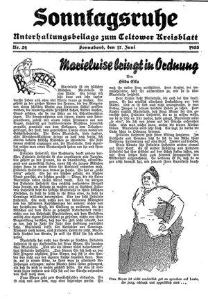 Sonntagsruhe vom 17.06.1933