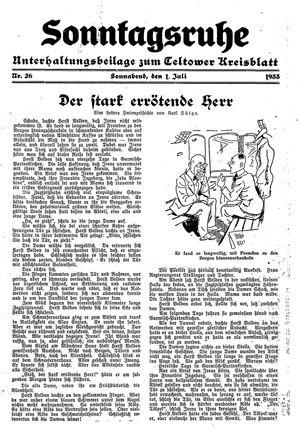 Sonntagsruhe vom 01.07.1933