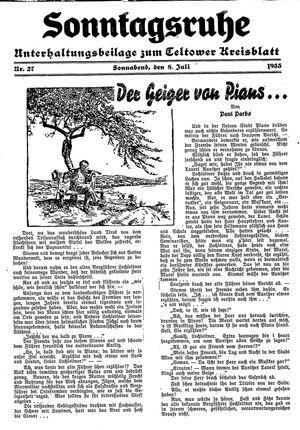 Sonntagsruhe vom 08.07.1933