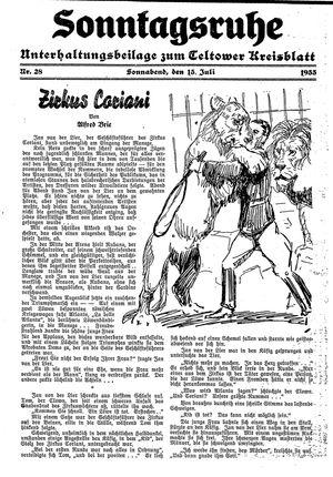 Sonntagsruhe vom 15.07.1933