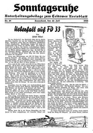 Sonntagsruhe vom 22.07.1933