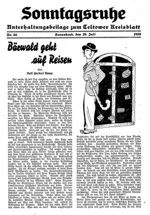 Sonntagsruhe vom 29.07.1933