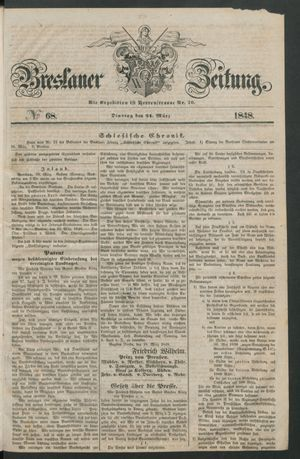 Breslauer Zeitung vom 21.03.1848