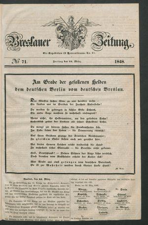 Breslauer Zeitung vom 24.03.1848