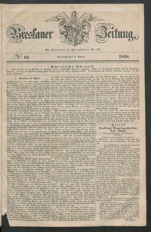 Breslauer Zeitung vom 07.04.1848