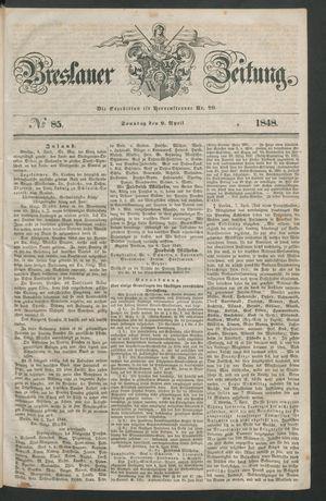Breslauer Zeitung vom 09.04.1848