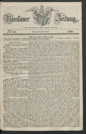 Breslauer Zeitung vom 14.04.1848