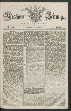 Breslauer Zeitung vom 15.04.1848