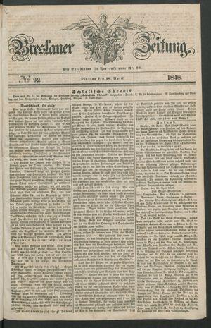 Breslauer Zeitung vom 18.04.1848