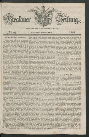 Breslauer Zeitung vom 20.04.1848