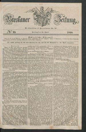 Breslauer Zeitung vom 21.04.1848