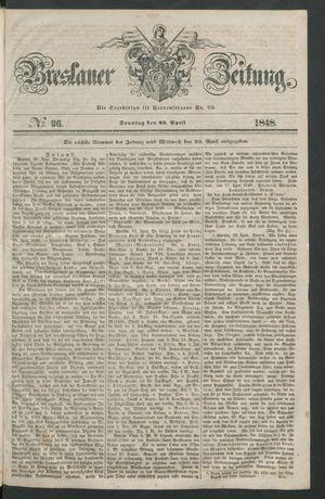 Breslauer Zeitung vom 22.04.1848