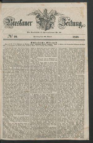 Breslauer Zeitung vom 28.04.1848