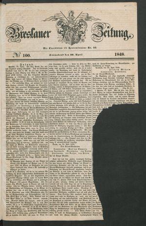 Breslauer Zeitung vom 29.04.1848