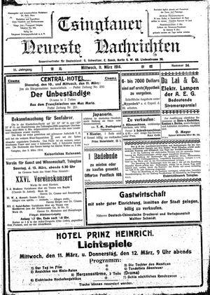 Tsingtauer neueste Nachrichten vom 11.03.1914
