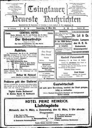 Tsingtauer neueste Nachrichten vom 12.03.1914