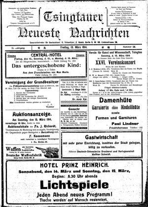 Tsingtauer neueste Nachrichten vom 13.03.1914