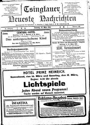 Tsingtauer neueste Nachrichten vom 15.03.1914