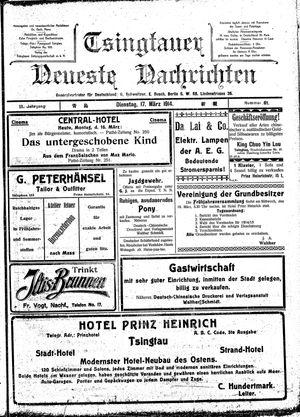 Tsingtauer neueste Nachrichten vom 17.03.1914