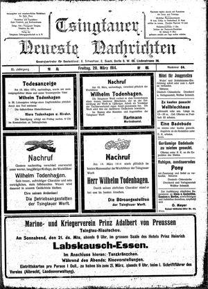 Tsingtauer neueste Nachrichten vom 20.03.1914