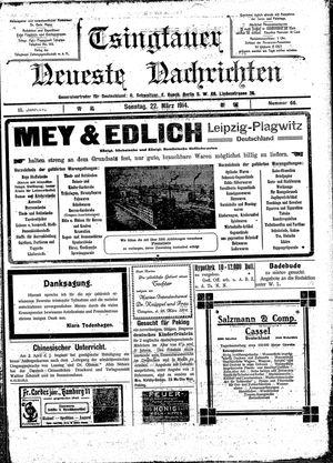 Tsingtauer neueste Nachrichten vom 22.03.1914