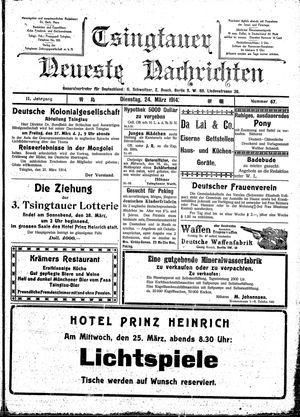 Tsingtauer neueste Nachrichten vom 24.03.1914