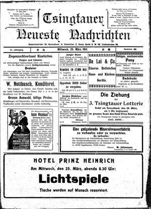 Tsingtauer neueste Nachrichten vom 25.03.1914