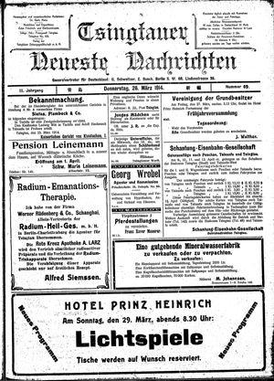 Tsingtauer neueste Nachrichten vom 26.03.1914
