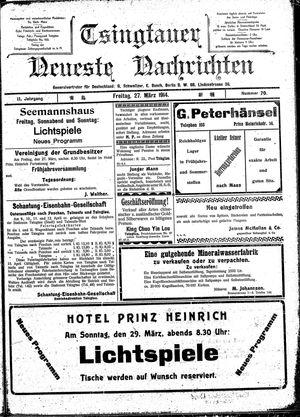 Tsingtauer neueste Nachrichten vom 27.03.1914