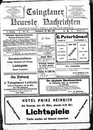 Tsingtauer neueste Nachrichten vom 28.03.1914
