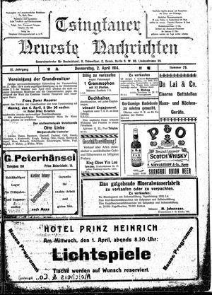 Tsingtauer neueste Nachrichten vom 02.04.1914