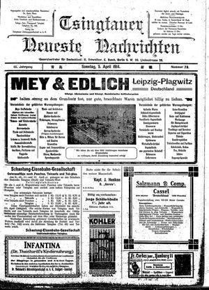 Tsingtauer neueste Nachrichten vom 05.04.1914
