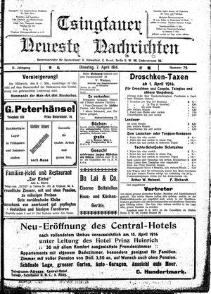 Tsingtauer neueste Nachrichten vom 07.04.1914