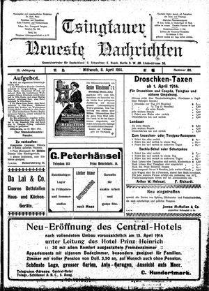 Tsingtauer neueste Nachrichten vom 08.04.1914