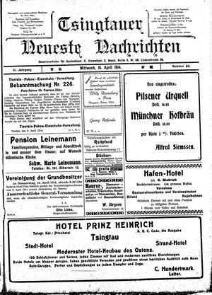 Tsingtauer neueste Nachrichten vom 15.04.1914