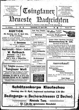 Tsingtauer neueste Nachrichten vom 18.04.1914