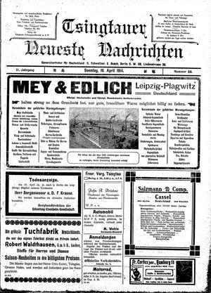 Tsingtauer neueste Nachrichten vom 19.04.1914