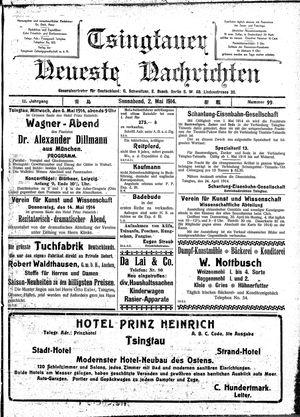 Tsingtauer neueste Nachrichten vom 02.05.1914