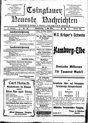 Tsingtauer neueste Nachrichten vom 07.05.1914