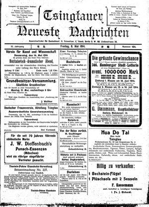 Tsingtauer neueste Nachrichten vom 08.05.1914