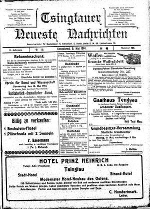Tsingtauer neueste Nachrichten vom 09.05.1914